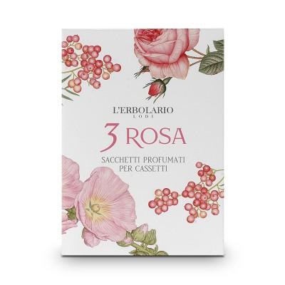 3 Rosa Perfumed Sachet for Drawers
