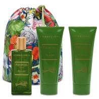 Rhubarb Beauty Bag Trio