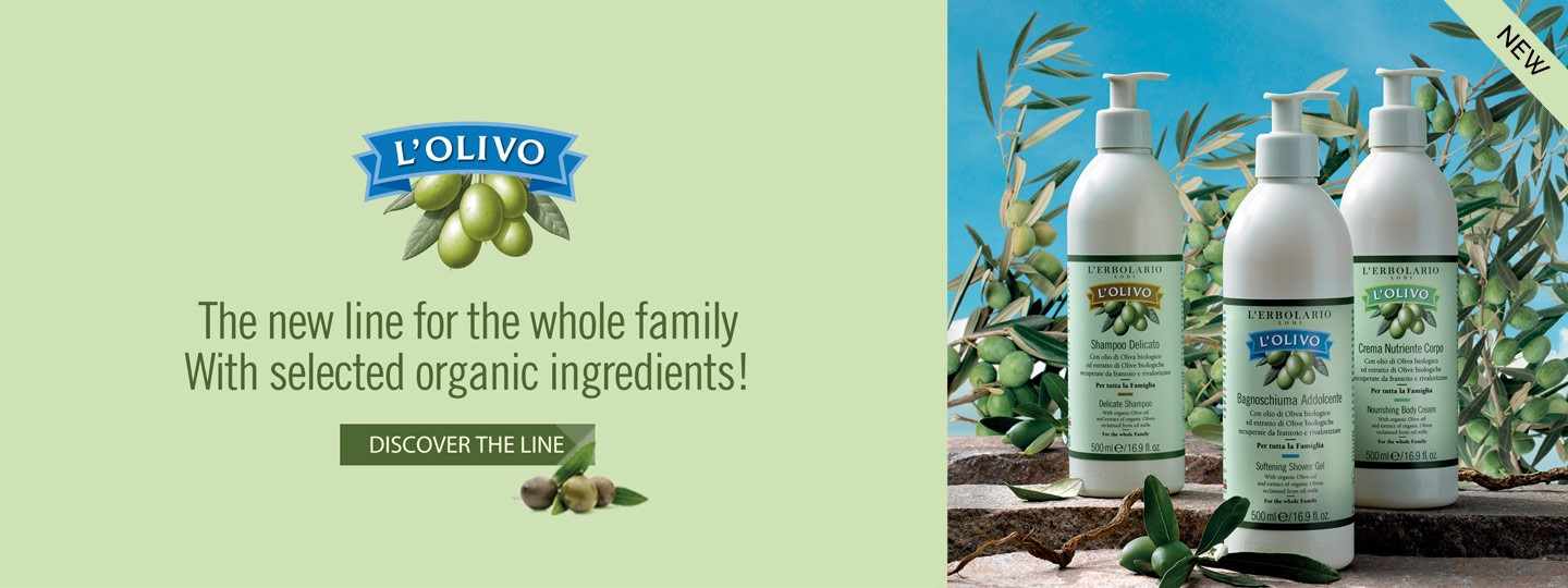 L'Olivo - With organic Olive oil and extract of organic Olives reclaimed from oil mills
